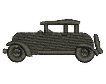 model A ford embroidery design