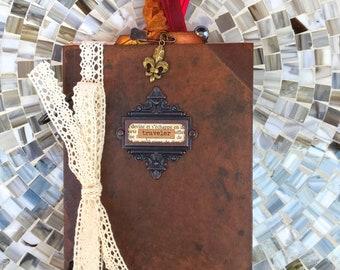 Smash Book, Travel Journal, Junk Journal, Travel Journal, 7 Gypsies Journal, Mixed Paper Journal, Art Journal