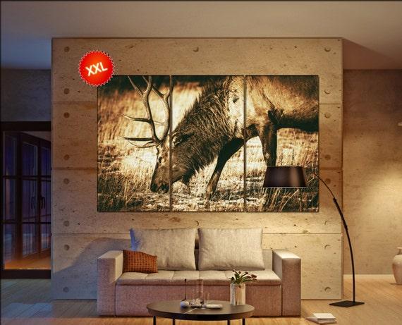 elk  canvas wall art elk wall decoration elk canvas wall art art elk large canvas wall art  wall decor