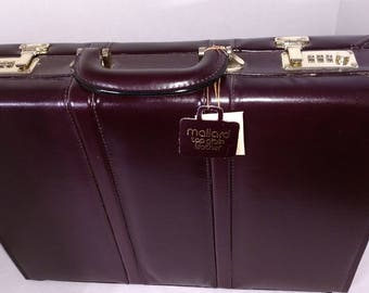 Vintage Mallard Top Grain Leather Executive Briefcase Double Lock With Tags New