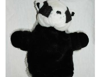 Panda Bear Hot Water Bottle Holder, Cover  of Faux Fur