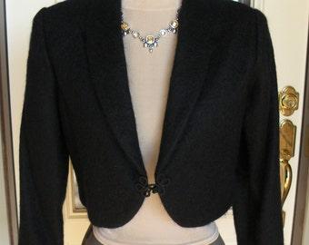 New black Mohair Jacket Coat Bolero