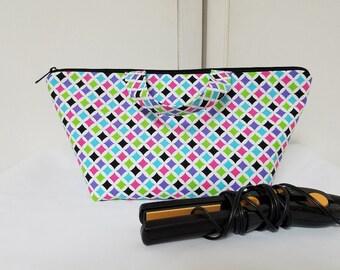 Hair Accessory Bag, Hair Gadget Bag, Toiletry Storage Bag, Washable Makeup Bag, Gadget Bag, Travel Bag, Cosmetic Bag, Nylon Lining,  Padded.