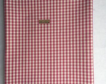 COUPON canvas GINGHAM pink cotton 100cm X 140 cm