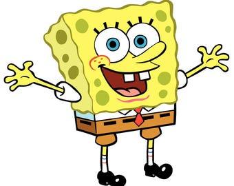 Spongebob squarepants Clipart, 118PNG Files Instant Download, DIGITAL DOWNLOAD