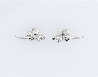 Sterling Silver Dimetrodon Post or Stud Earrings