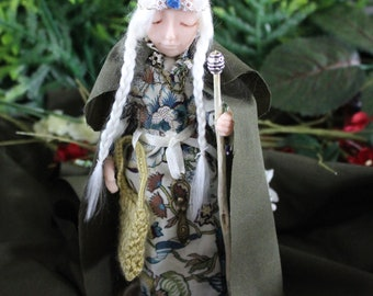 """Mystical Celtic/Norse.Viking  Maiden """" Britt"""" Figurine/Doll Fantasy.Magical Collectable."""