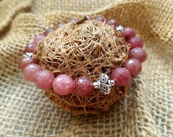 Muscovite/ bead bracelet/ natural gemstones/ healing jewelry/ yoga jewelry/ gift for her/ healing crystals/ good fortune/ bracelet