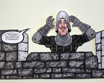 French Taunter Articulated Paper Doll - inspired by Monty Python and the Holy Grail