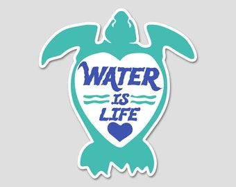 Water is Life Bumper Sticker Decal