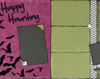12x12 Halloween Scrapbook Kit 2 Page Layout Happy Haunting