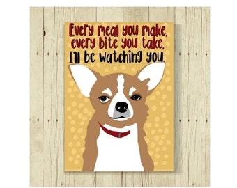 Chihuahua Magnet, Dog Magnet, Dog Lover Gift, Chuhuahua Gift, Fridge Magnet, Refrigerator Magnet, Funny Dog
