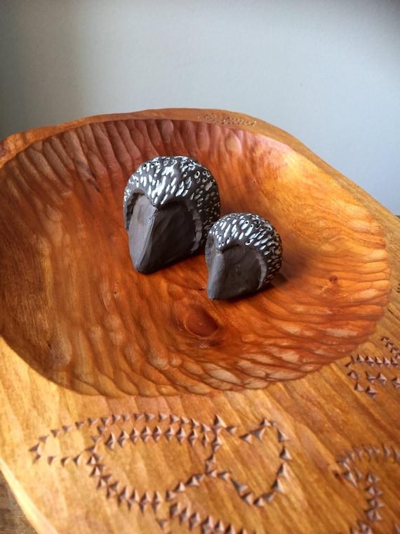 Large Swedish hand carved embossed engraved rustic wooden bowl primitive handcrafted Scandinavian hewn