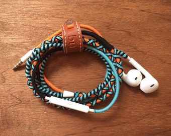 Coral Snake Cotton Braided Earphones