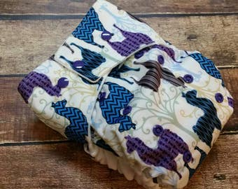 One Size Pocket Cloth Diaper Lots of Llamas 15-40 lbs