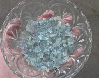 Three Small Aquamarine Chips