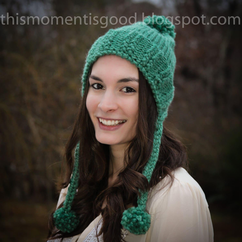 Loom Knit Split Brim Hat PATTERN. Loom Knit Earflap hat Pattern ...
