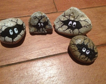 painted rocks, garden art