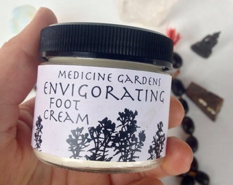 envigorating foot cream -- a sweet rich minty cream, amazing for waking up tired feet an skin!