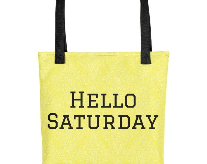 Yellow Tote Bag Hello Saturday