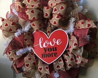 Love You More Wreath  Love Wreath
