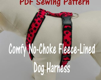 Dog Harness Pattern Etsy. Dog Harness Nochoke And Fleecelined Pdf Sewing Pattern. Wiring. Homemade Dog Harness Patterns At Scoala.co