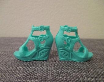 Barbie®accessory barbie teal platform shoes fashionista add ons