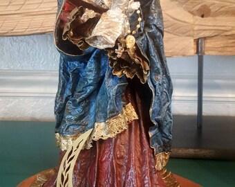 Religious statue, saint, santos, mary statue, religious saint statue, vintage