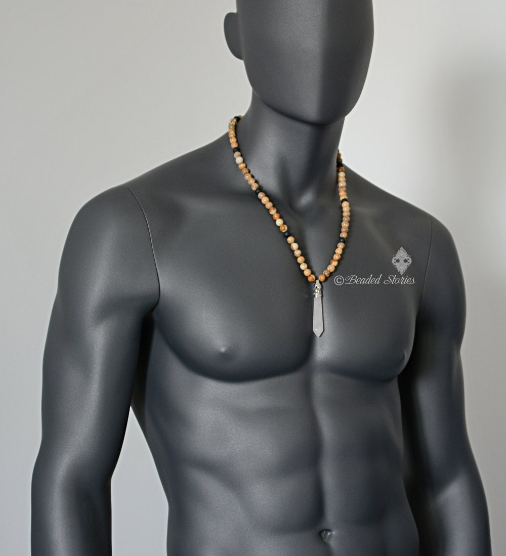 Healing crystal jewelry mens necklace long crystal necklace zoom aloadofball Image collections