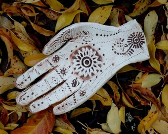 Henna Mehendi Clay Hand  Dish - Made to Order