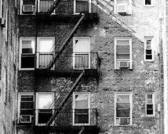 Rundown Building Photography Print, NYC Wall Art, New York City Photo Decor