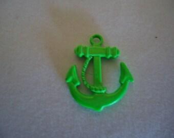 Green metal anchor pendant