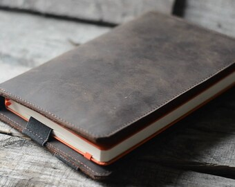 Handmade  iPad Mini Leather  and Large Moleskine  Cover, Personalized  Moleskine Leather Cover, Leuchtturm 1917 Leather Case, notebook A5