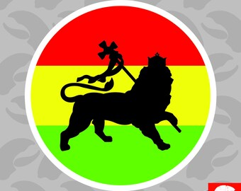 Rasta Lion of Judah Sticker Self Adhesive Vinyl tribe of jewish reggae - C4610