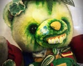 Horror Teddy Bear, Green ...