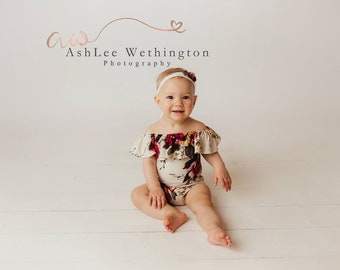 Sitter girl outfit, sitter romper, photography prop, babygirl outfit, babygirl romper, babygirl outfit, girl photo outfit, neutral romper