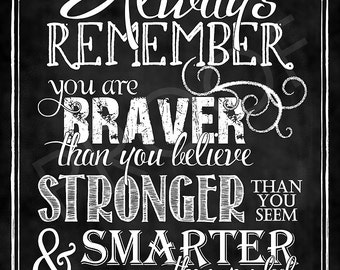 Chalkboard Art - Quote by Christopher Robin