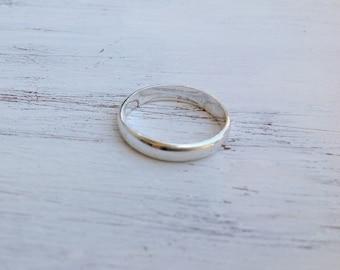 Sterling silver ring, gift for men, man ring, wedding band ring, ring for men, round plain ring, silver ring, band ring