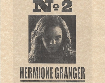 Harry Potter Undesirable Number 2 Hermione Granger Wanted > Emma Watson > Flyer/Poster Replica