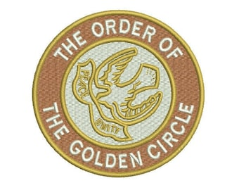 the order of the golden circle embroidery design