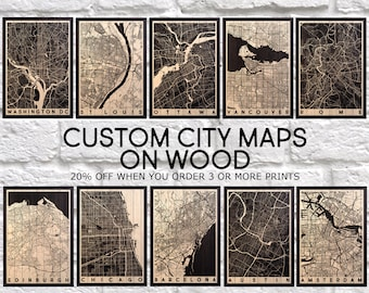 5 year Anniversary Gift for Women Wood wall art Map Gift for Girlfriend gift for Men gift for Husband gift for him Panel effect wood Map art