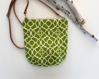 Crossbody Purse // Crossbody Bag // Handmade Bag // Fabric Bag