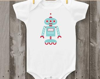Robot (Design 2) Bodysuit or T-Shirt