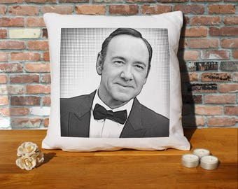 Kevin Spacey Pillow Cushion - 16x16in - White