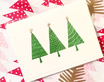 Three Trees Holiday Mini Card