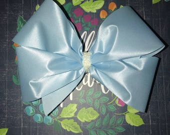 Light blue lace bow