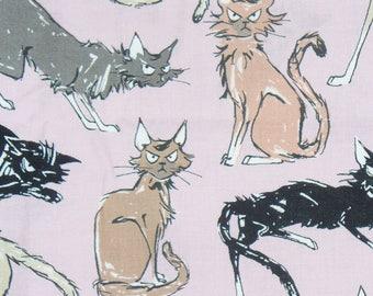 Nine Ghastlie Lives, Sebastian Ghastlie, Alexander Henry, Pink Background, The Ghastlies, By the Yard, Cotton Fabric