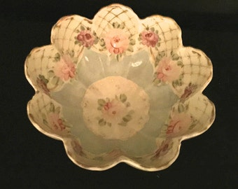 40's Hand Painted Decorative Serving Bowl                               VG2195