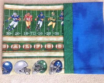 Football Pillow Case- Standard Pillow