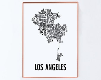 Los angeles Poster, Graphic art, USA, Black White Art Typography Poster, california wall art, california Poster, california Print